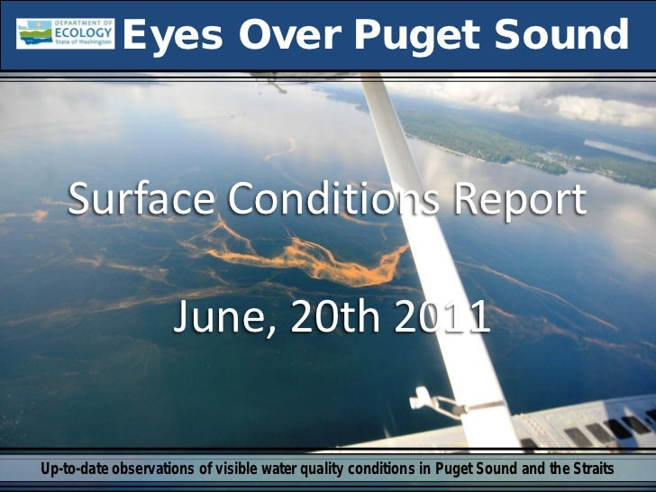 Eyes Over Puget Sound    Surface Conditions Report                    June, 20th 2011Up-to-date observations of visible wa...