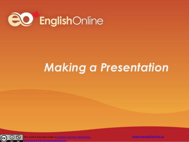 Making a Presentation about Your Home Country