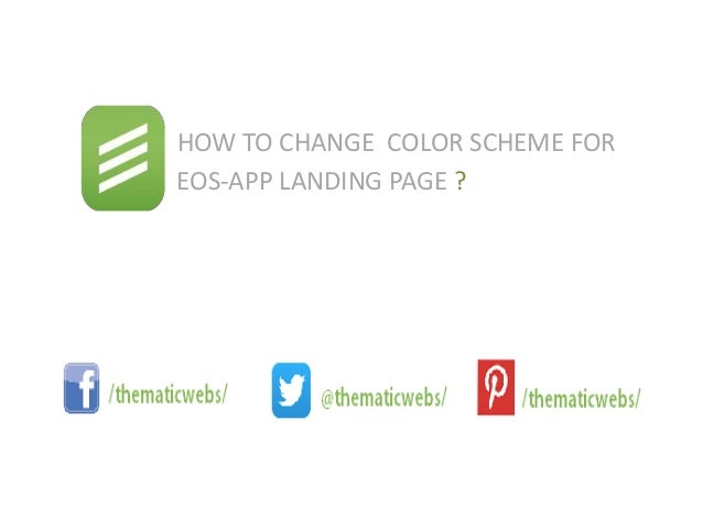 how to change color scheme in eos theme change color scheme theme