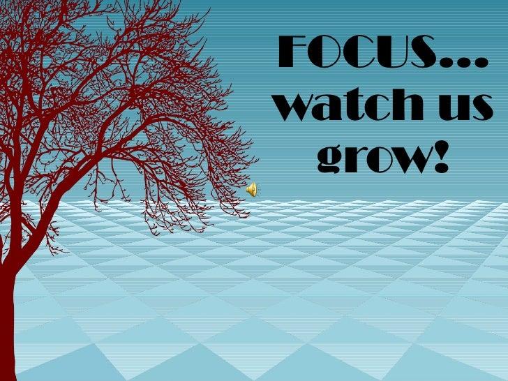 FOCUS… watch us grow!