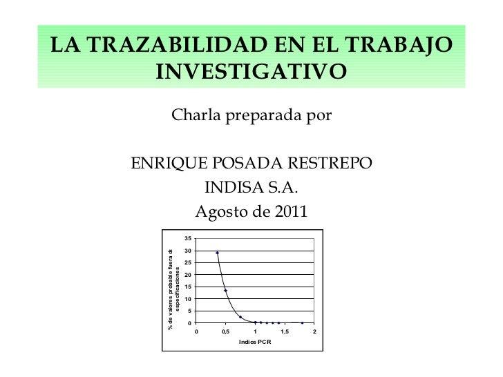 La trazabilidad en el trabajo de investigacion