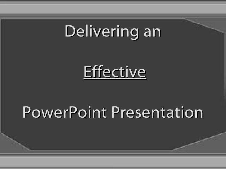 FKCC Effective PowerPoint