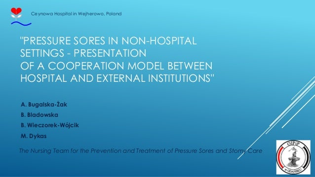 """""""PRESSURE SORES IN NON-HOSPITAL SETTINGS - PRESENTATION OF A COOPERATION MODEL BETWEEN HOSPITAL AND EXTERNAL INSTITUTIONS""""..."""