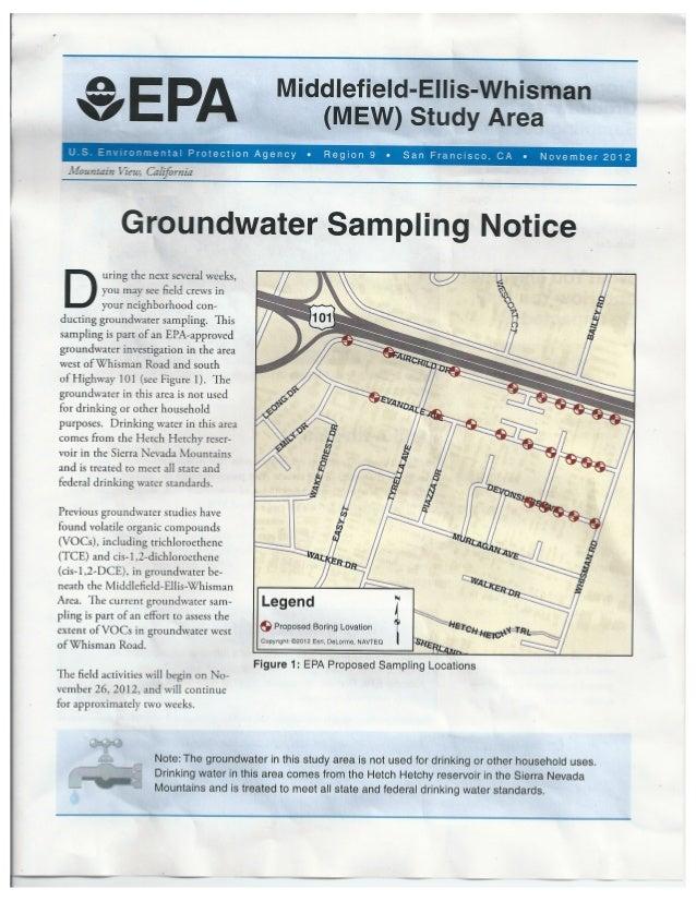 EPA Groundwater Sampling Notice