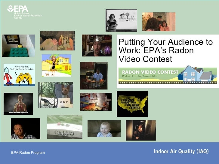 Putting Your Audience to Work: EPA's Radon Video Contest