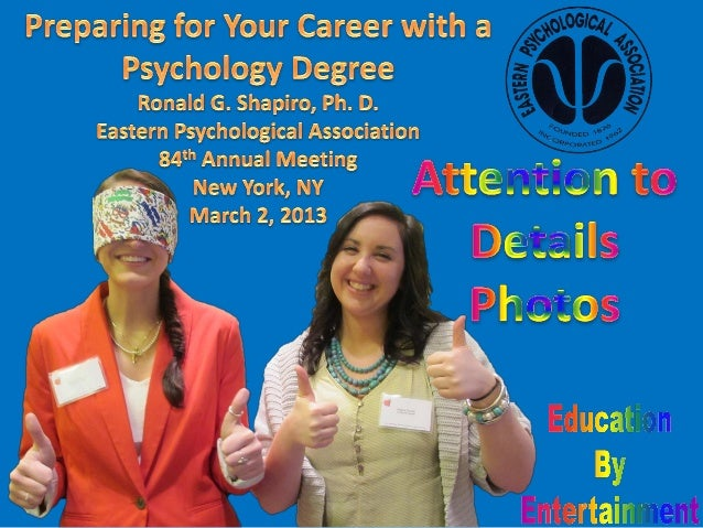 Preparing for Your Career with a Psychology Degree;Education by Entertainment program;Presenter: Dr. Ronald G. Shapiro;Sta...