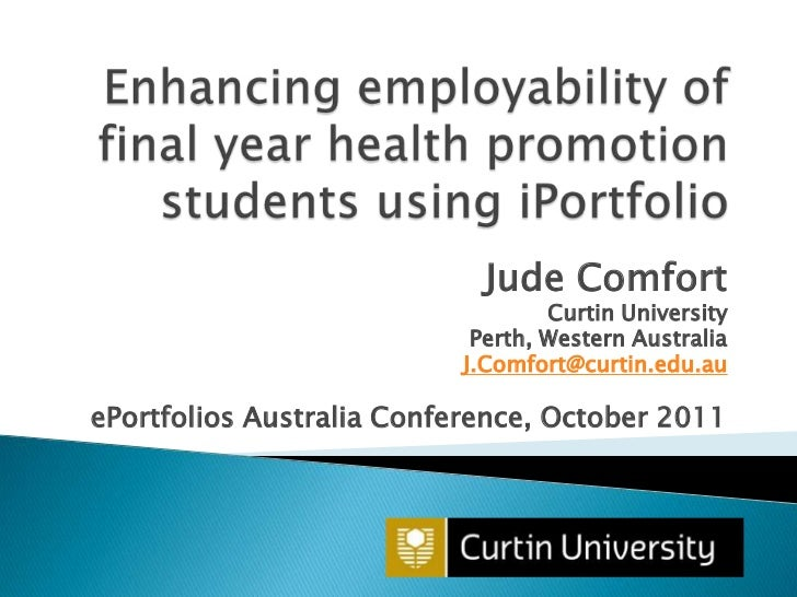 Enhancing employability of final year health promotion students using iportfolio