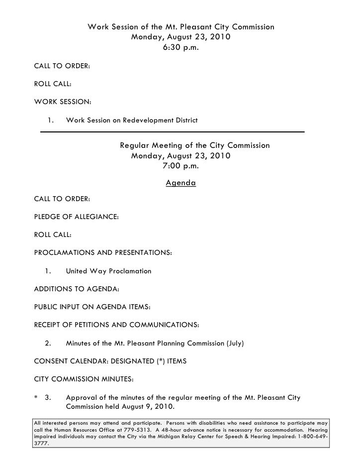 City Commission Agenda Packet