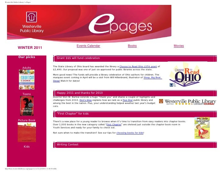 Westerville Public Library | e-Pages                                                                                      ...