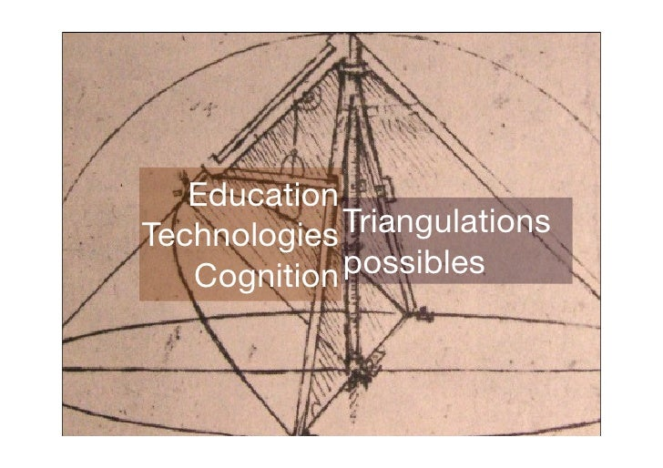 Education Technologies Triangulations    Cognition possibles