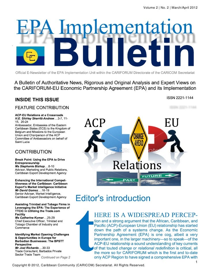 EPA Implementation Bulletin - March-April 2012
