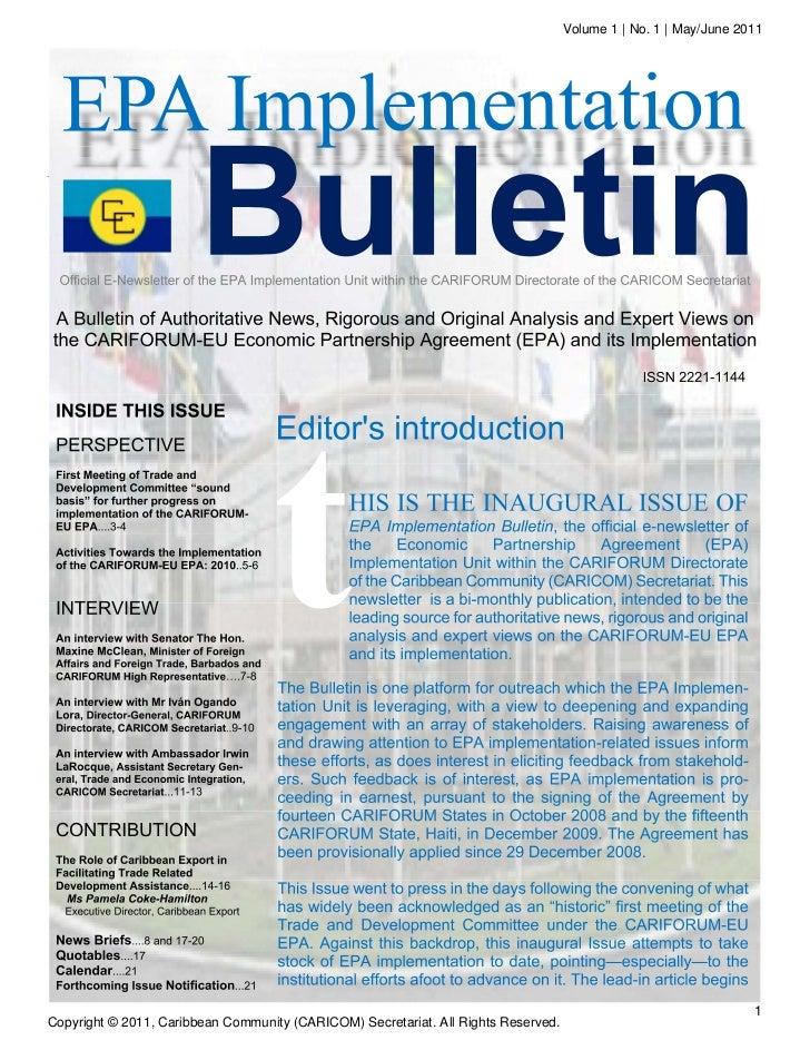 Volume 1 | No. 1 | May/June 2011                                                                                          ...
