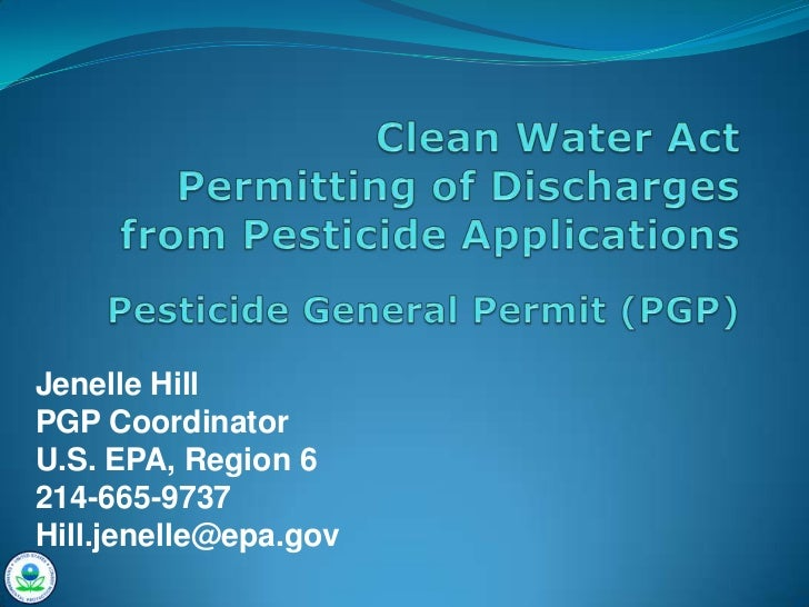 Clean Water Act Permitting of Discharges From Pesticide Applications For Oklahoma