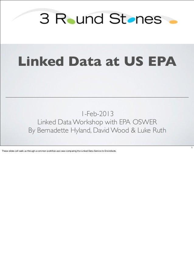 Linked Data at US EPA                                          1-Feb-2013                            Linked Data Workshop ...