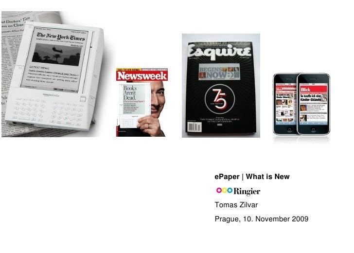 E-paper (Tomáš Zilvar)