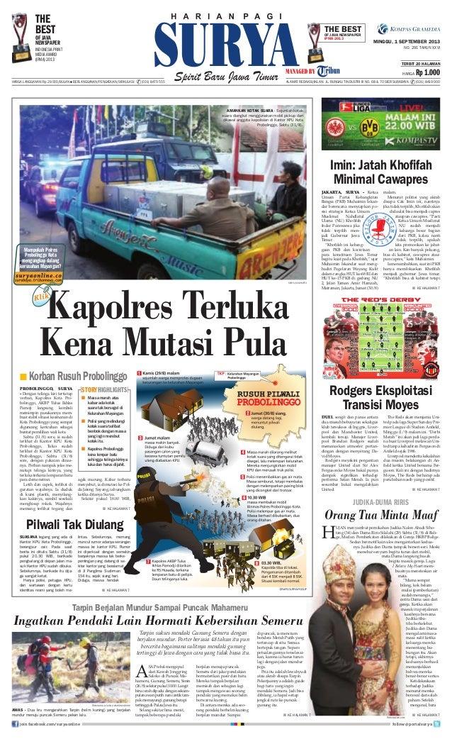 Epaper Surya 1 September 2013