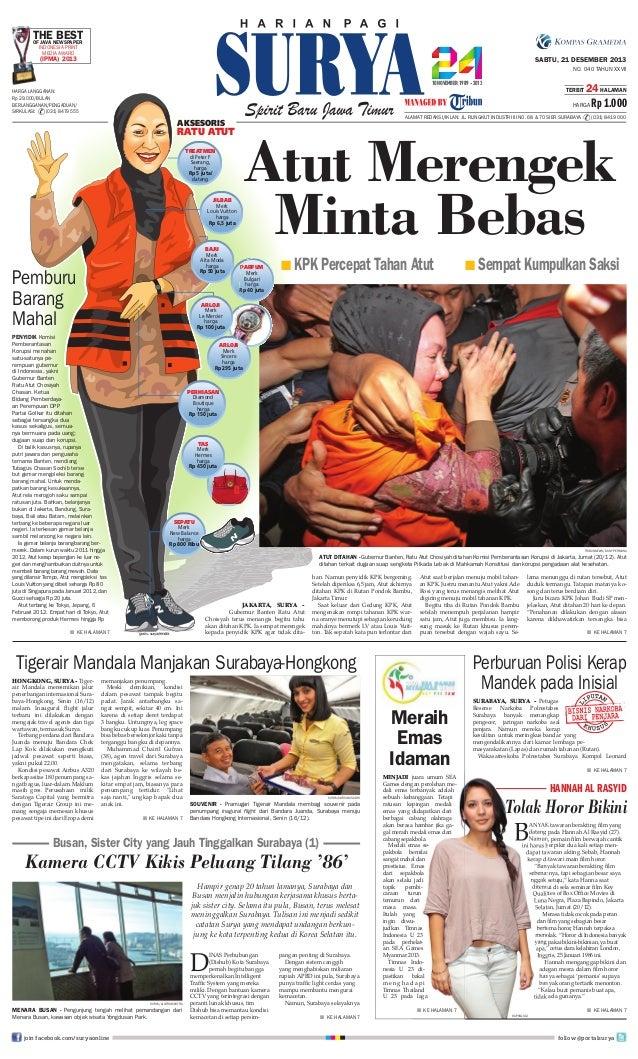 THENEWSPAPER BEST OF JAVA INDONESIA PRINT MEDIA AWARD  (IPMA) 2013  SABTU, 21 DESEMBER 2013 NO. 040 TAHUN XXVII TERBIT  HA...