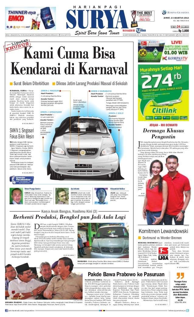 Epaper Surya 23 Agustus 2013