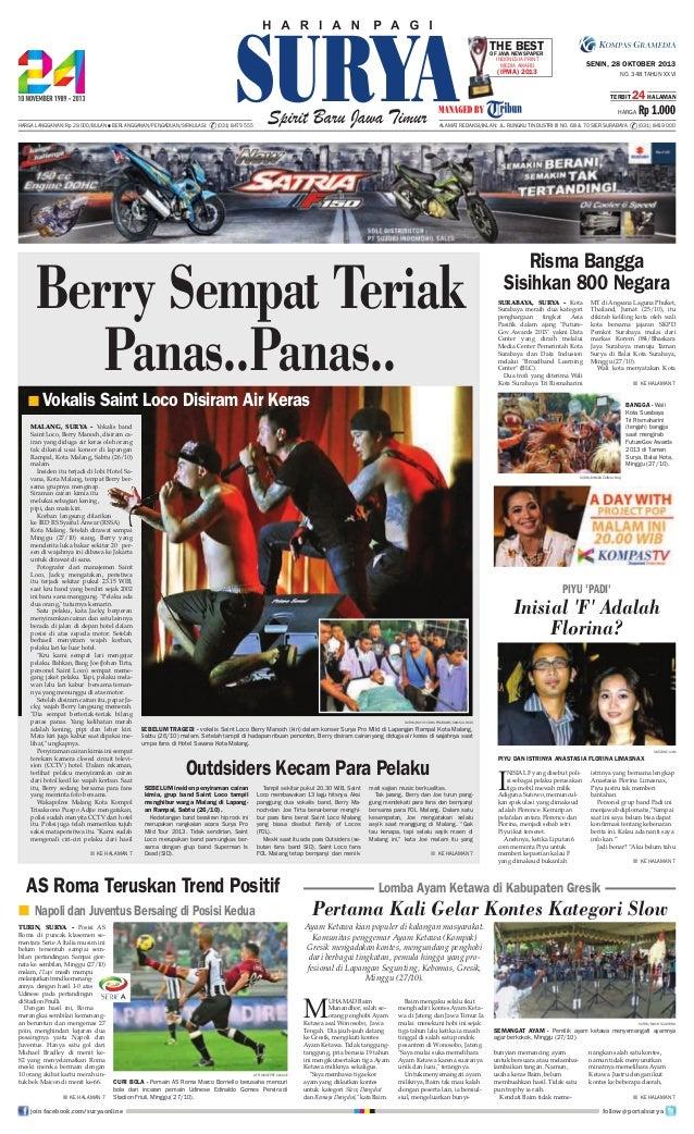 Epaper surya 28 oktober 2013
