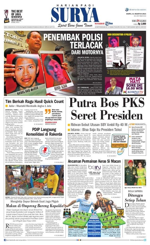 Epaper Surya 31 Agustus 2013