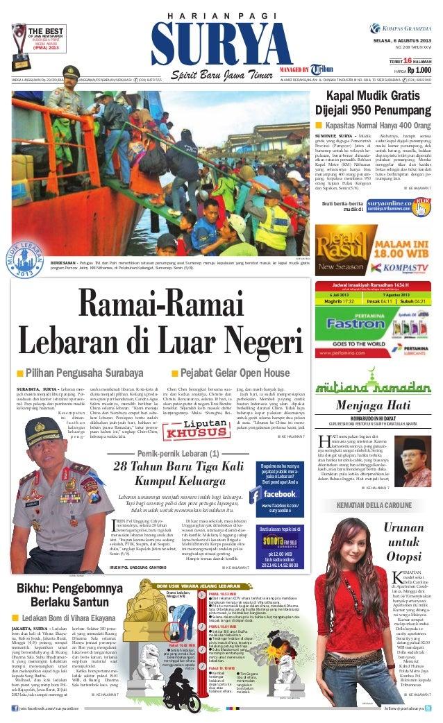 Epaper surya 6 agustus 2013