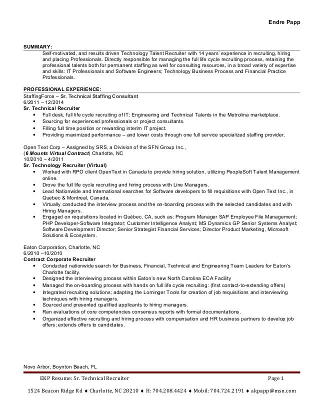 Results driven resume example