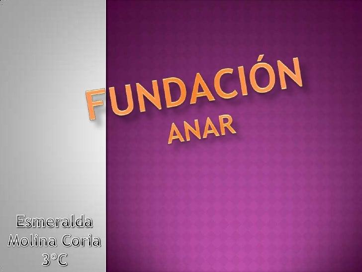 FUNDACIÓN<br />ANAR<br />Esmeralda Molina Coria<br />3ºC<br />