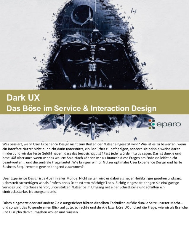 eparo - Dark UX (Session UX-Camp 2013, Hamburg – Markus Wienen)