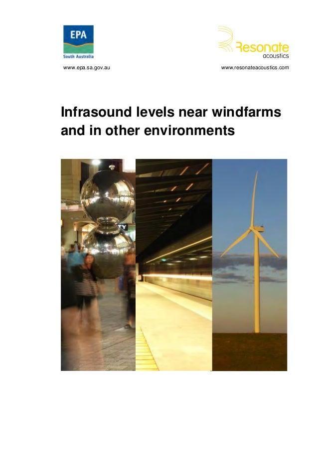 Infrasound levels near windfarms