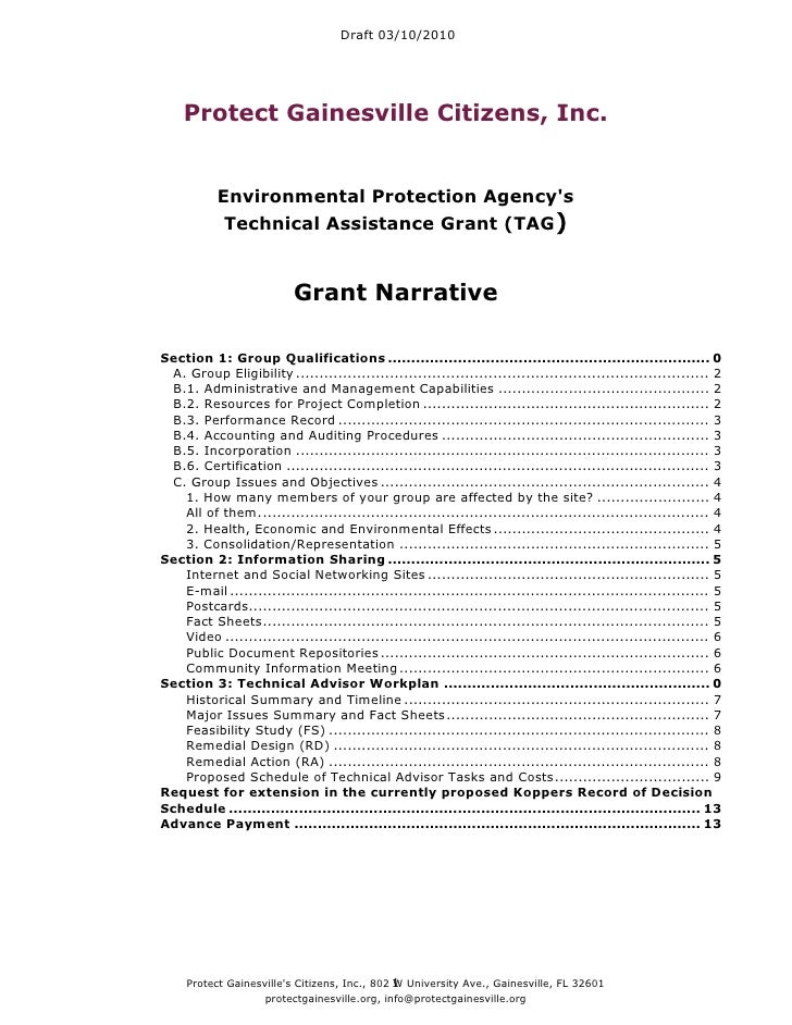 Draft 03/10/2010         Protect Gainesville Citizens, Inc.              Environmental Protection Agency's             Tec...