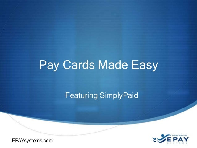 Pay Cards made Easy with SimplyPaid