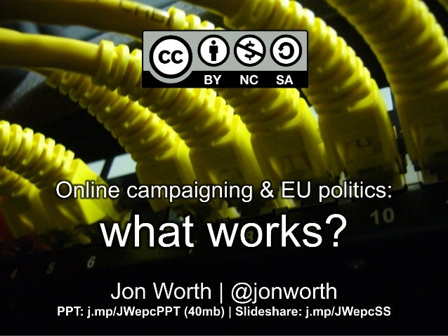 What works in online campaigning at EU level?