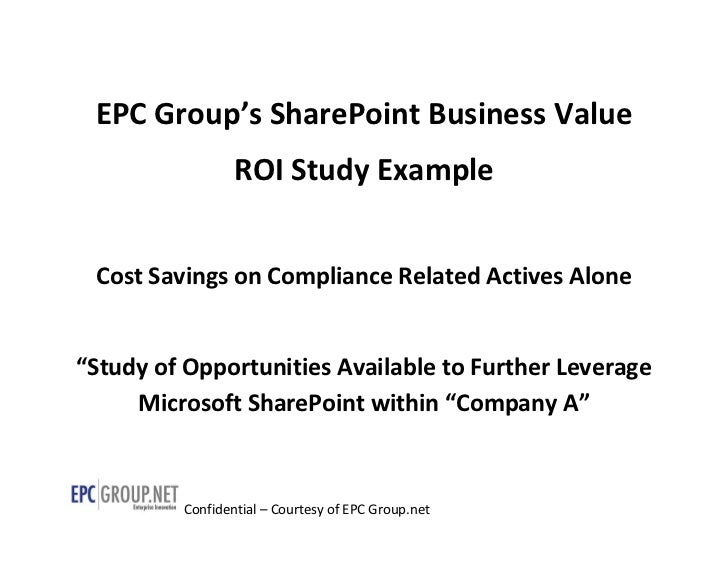EPC Group SharePoint ROI Business Value Case Study - SharePoint Consulting