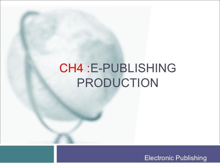publishing production