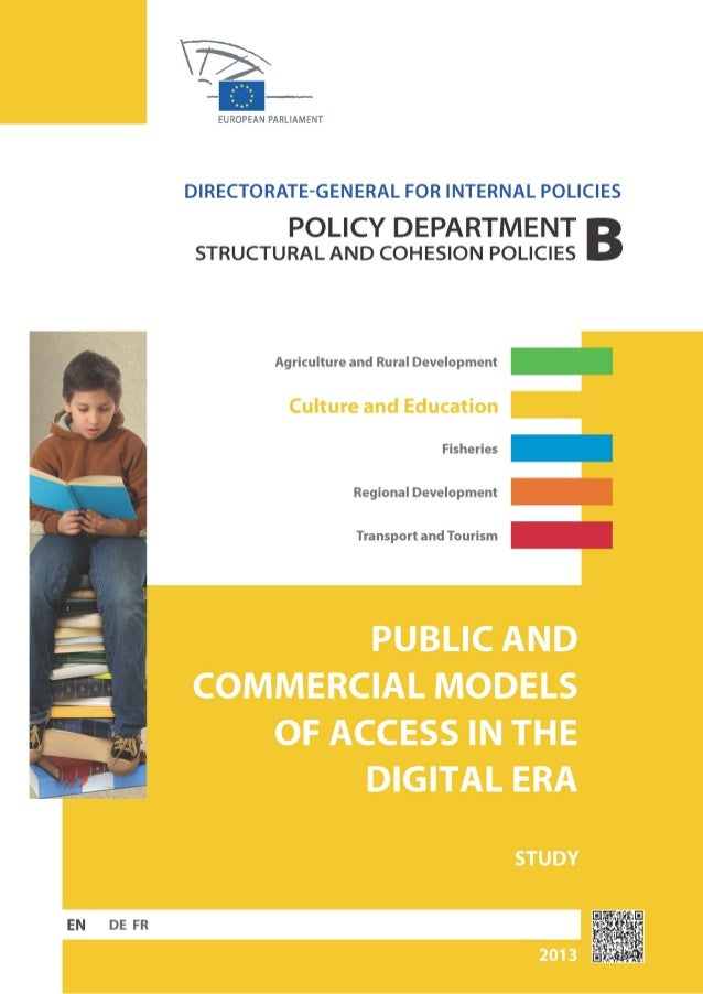 Public and Commercial models of access in the digital era
