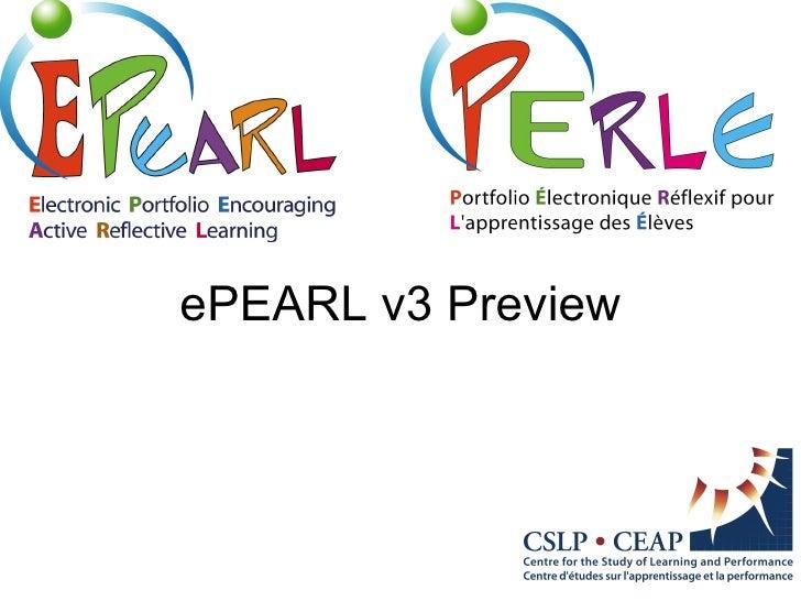 E Pearl V3 Preview