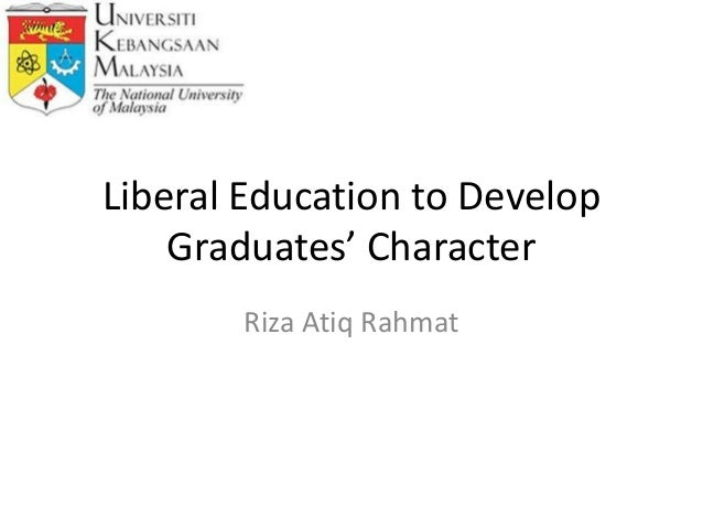 Liberal Education to Develop Students' Character