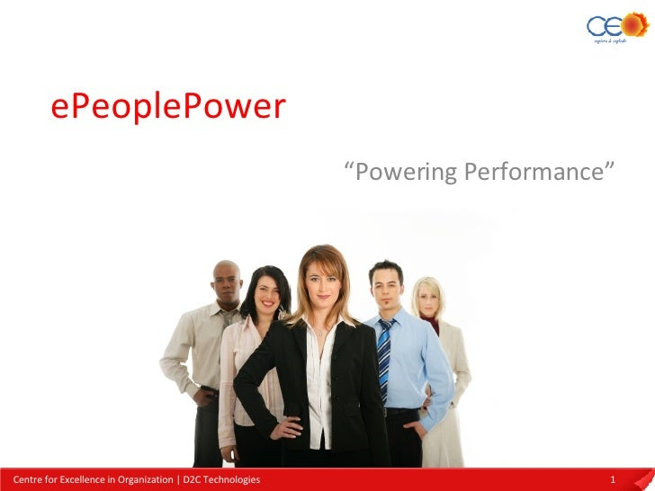 "ePeoplePower "" Powering Performance"""