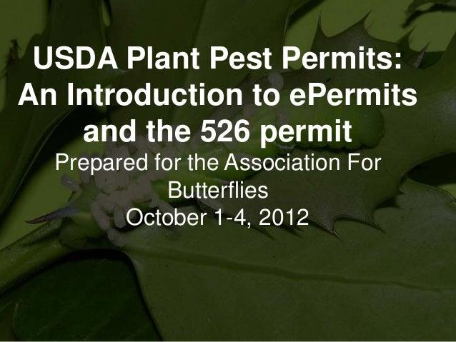 USDA ePermits - Part 1