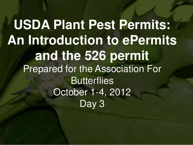 USDA ePermits - Part Three