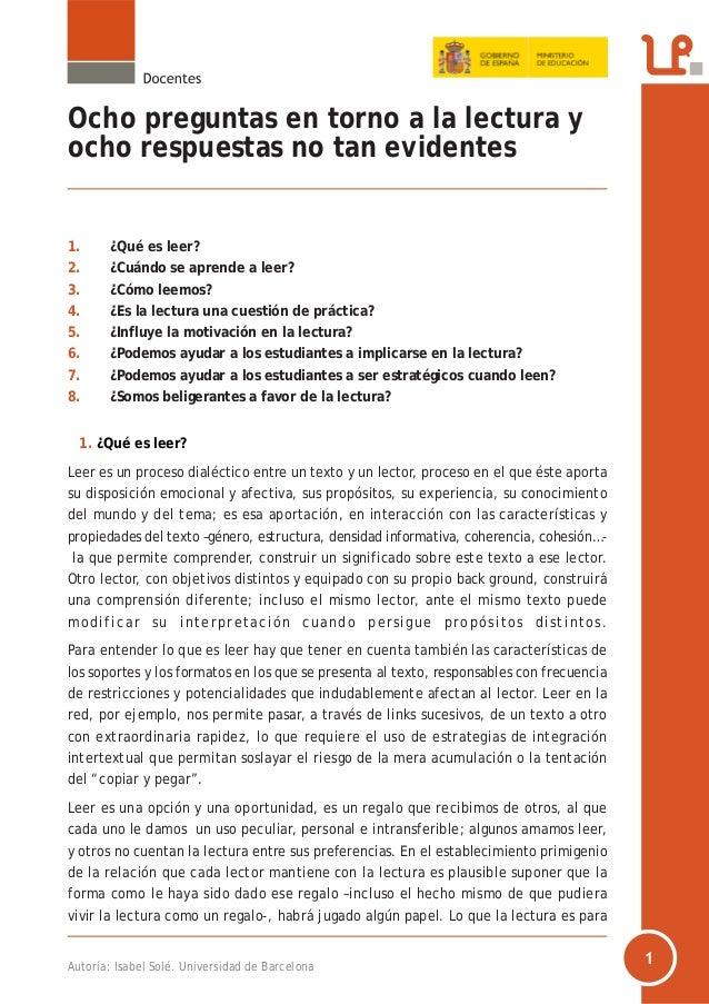 Ep eso prof_8preguntas_lectura_isabelsole