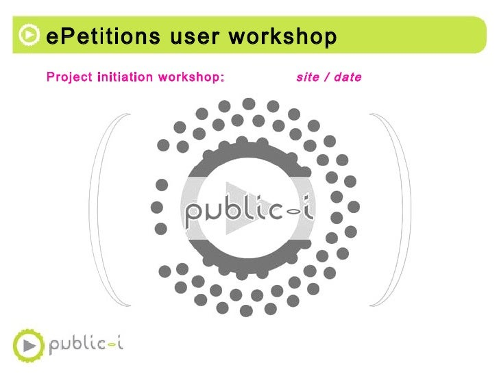 Public-i ePetitions system