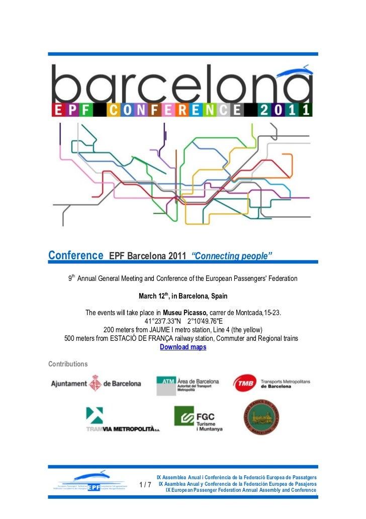 EPF Conference Barcelona 2011
