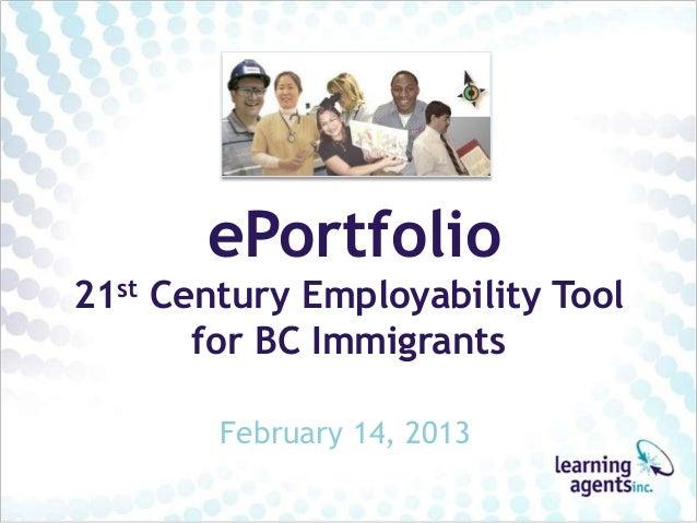 ePortfolios for Immigrants
