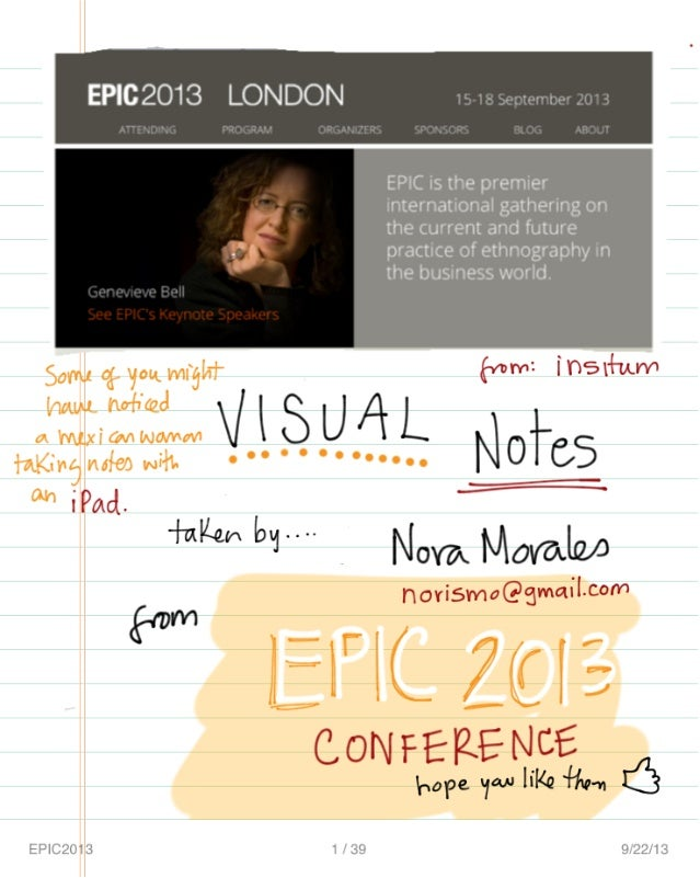 Visual Notes from EPIC 2013 London