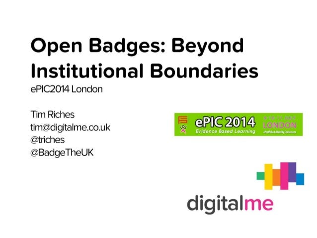 Epic 2014 Open Badges: Beyond Institutional Boundaries