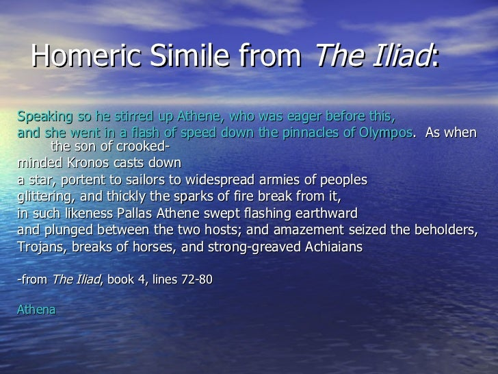 the similies in homers iliad