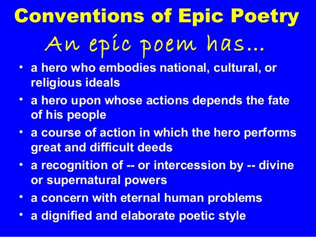 an analysis of the topic of the end of an epic poem The anonymous author of the poem convinces us through the masterful use of various literary elements that emphasize its meaning and message we will write a custom essay sample on beowulf literary analysis essay.