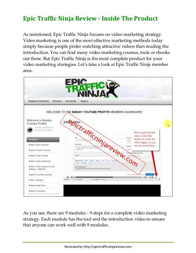 Epic Traffic Epic Traffic Ninja Focuses