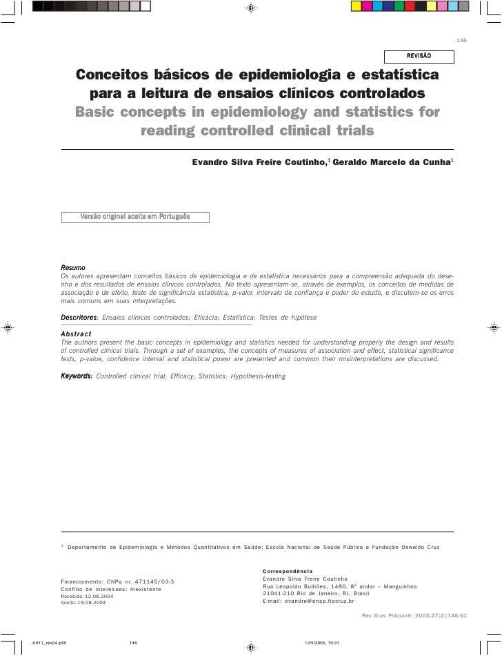 Análise Estatistica Básica_Ensaios Clínicos Controlados